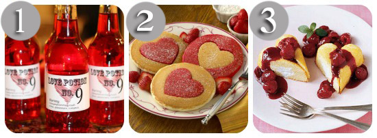valentines day food ideas in a collage