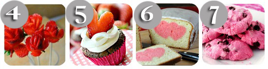 4 different valentines day food ideas