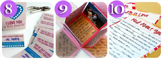 collage of 3 love notes for him