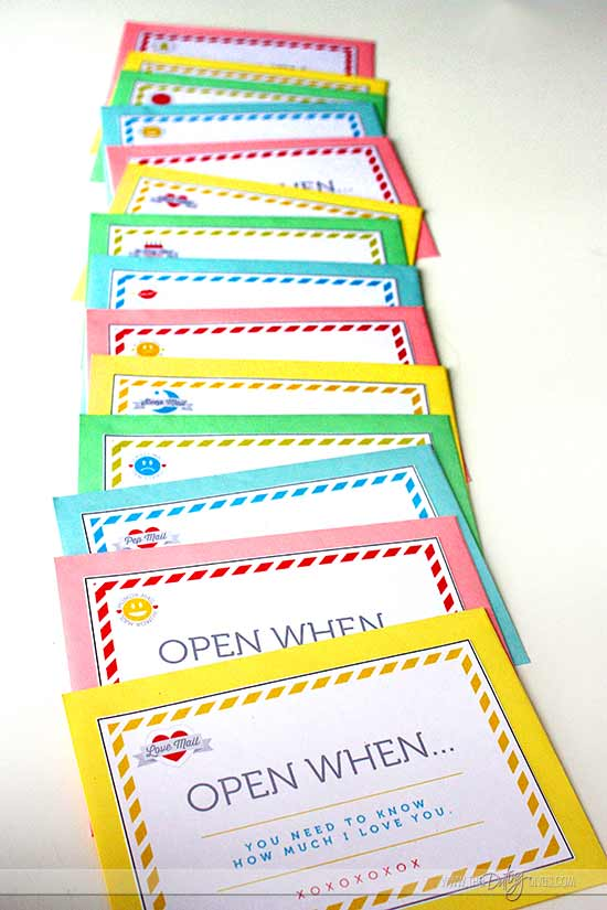 Open When Letters Printable Kit - From The Dating Divas