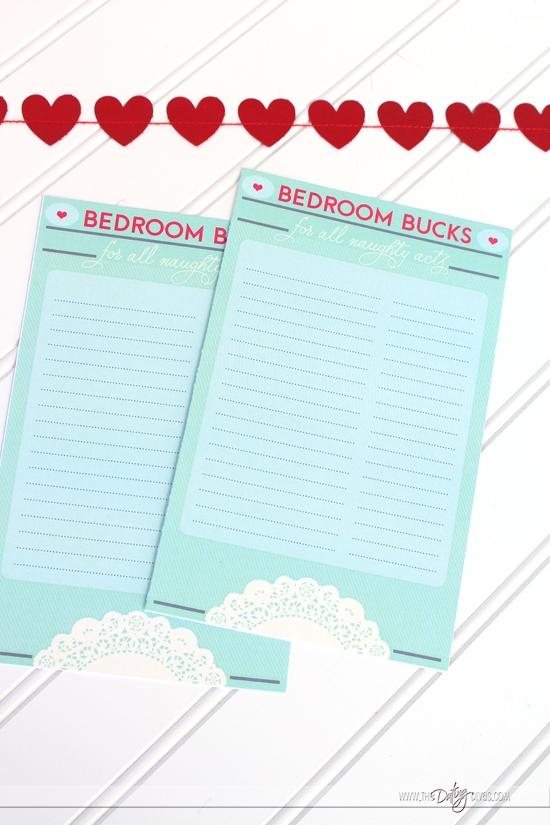 Bedroom Bucks Blank Menu of Services