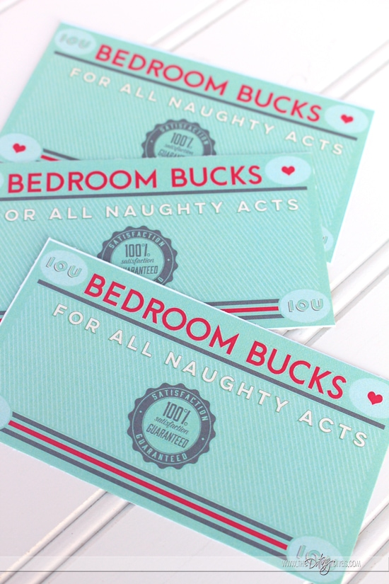 Bedroom Bucks Printables