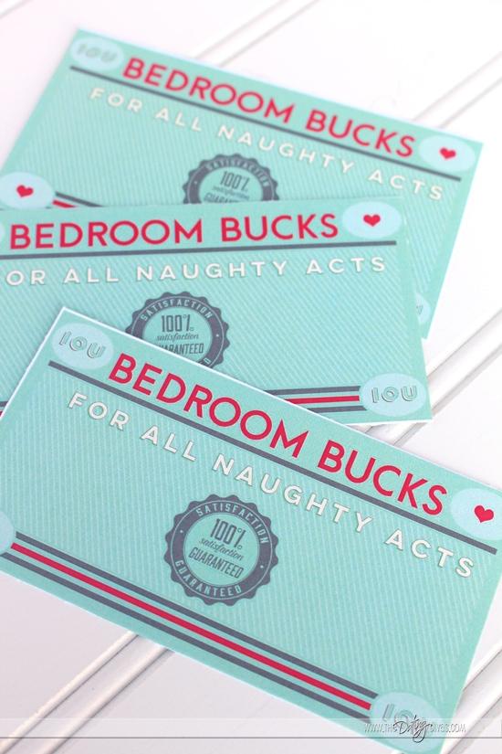 Bedroom Bucks Printables