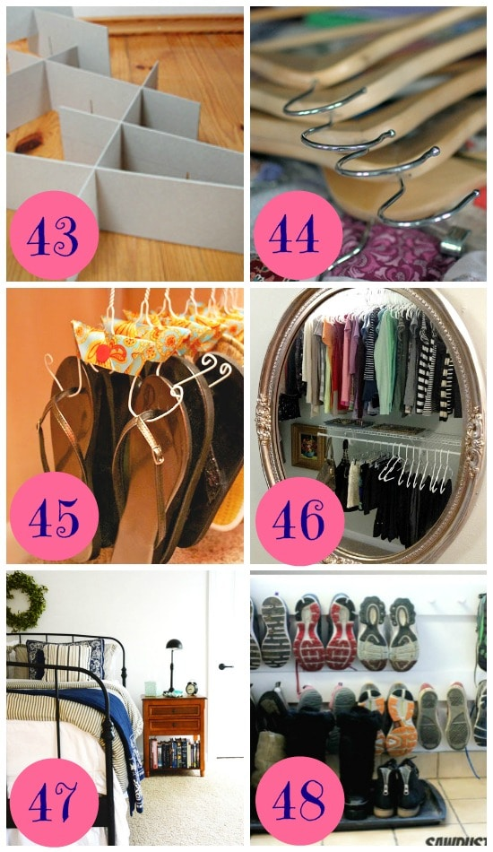 75 Ways To Organize Your Life: diy wardrobe organising ideas