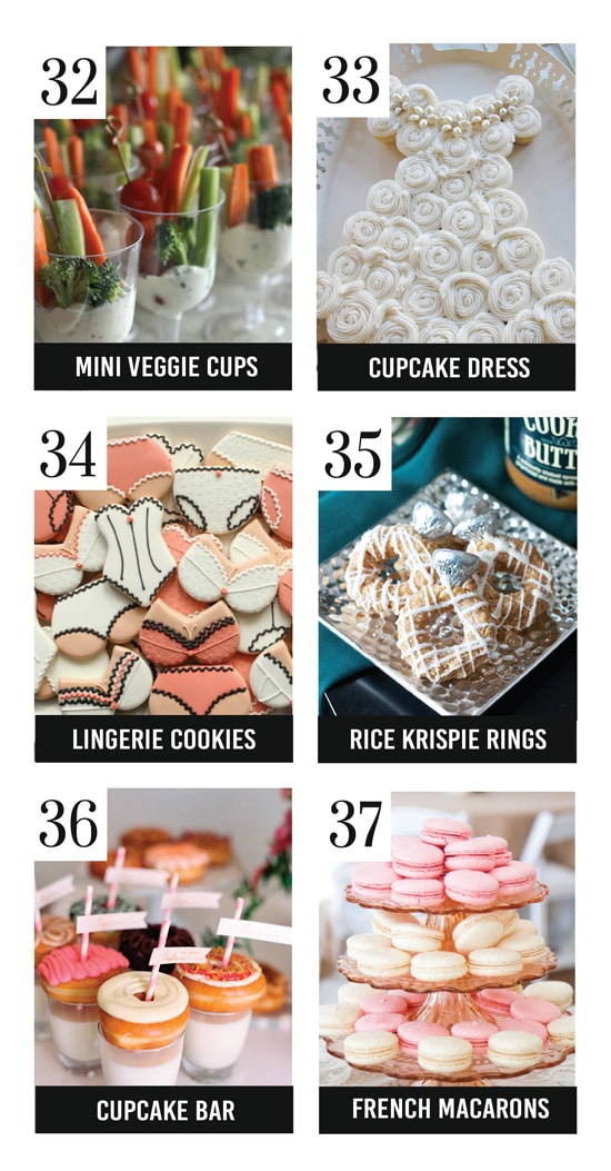 The Best Bridal Shower Food Ideas Ever