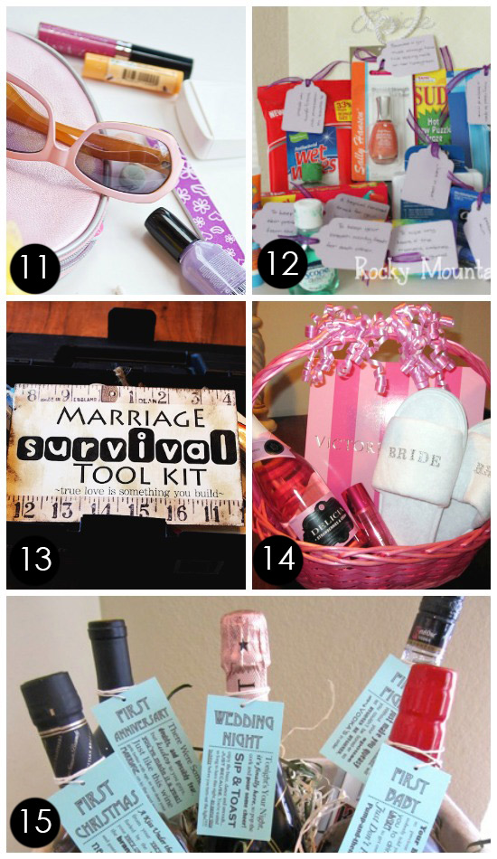 60 best creative bridal shower gift ideas best bridal shower gift baskets 11 diy solutioingenieria Gallery