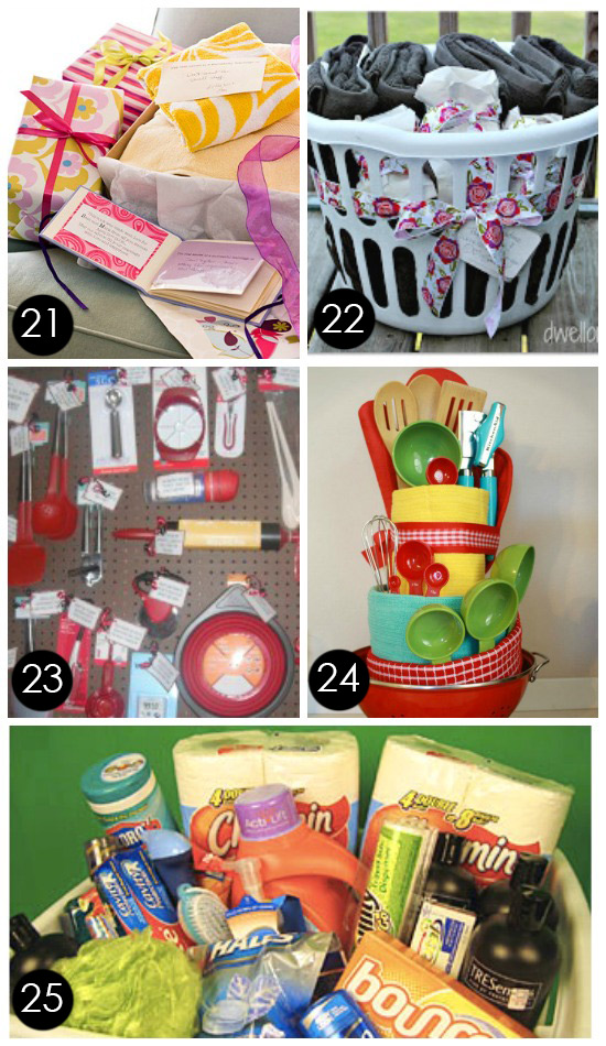 Cheap Bridal Shower Gift Basket Ideas : 21. Good Advice Gift Basket Heres a fun idea! Give the bride ...