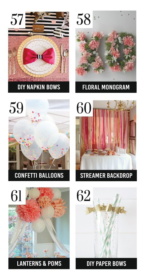 The Best DIY Bridal Shower Decoration Ideas