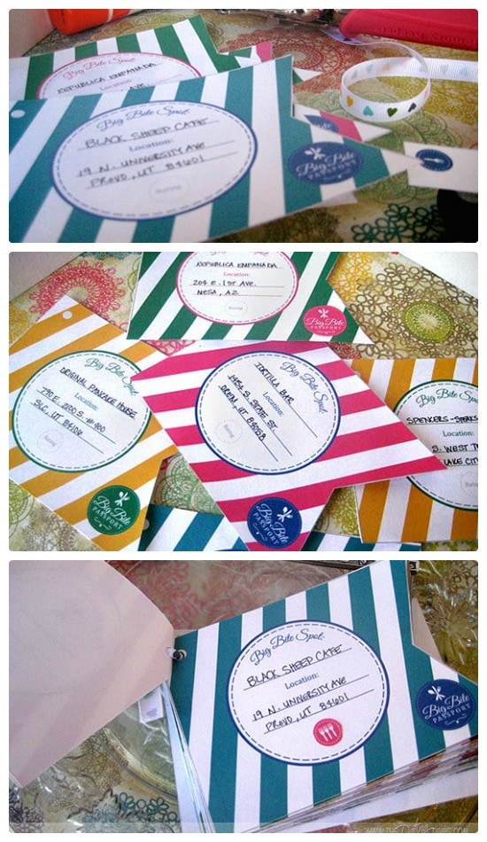 Big Bite Passport printable book Community exclusive