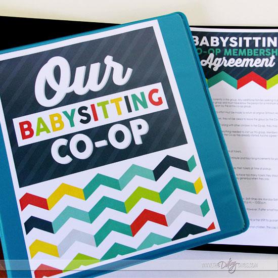 Babysitting co-op binder cover