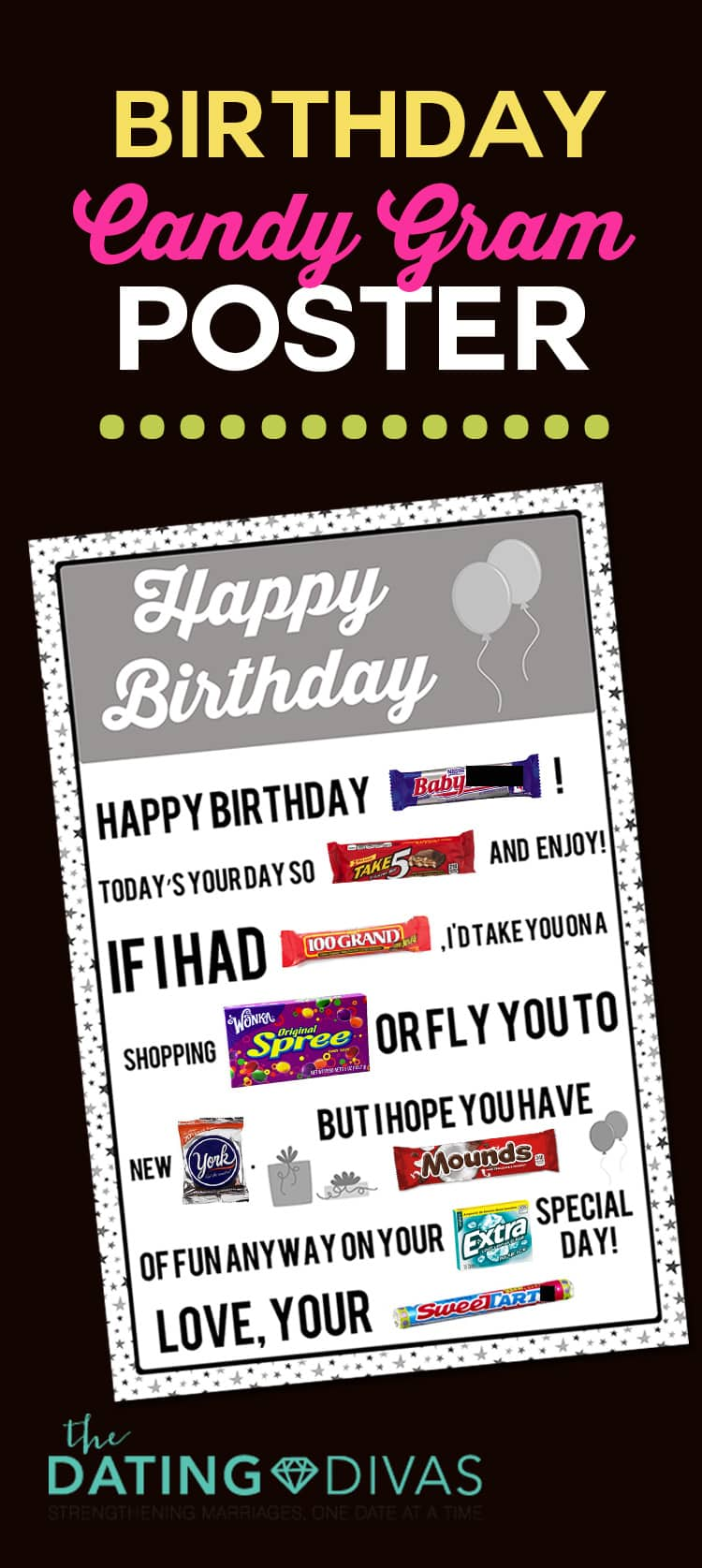 Birthday Candy Poster