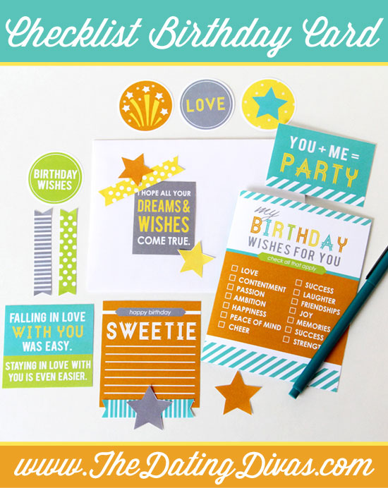 Birthday Checklist DIY Card for Him