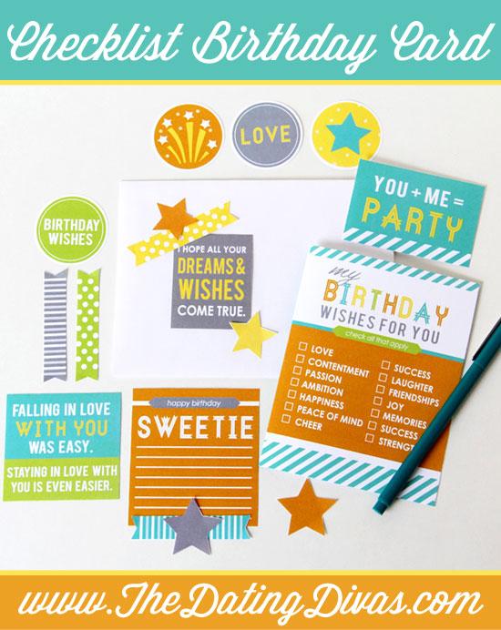Birthday Checklist DIY Card