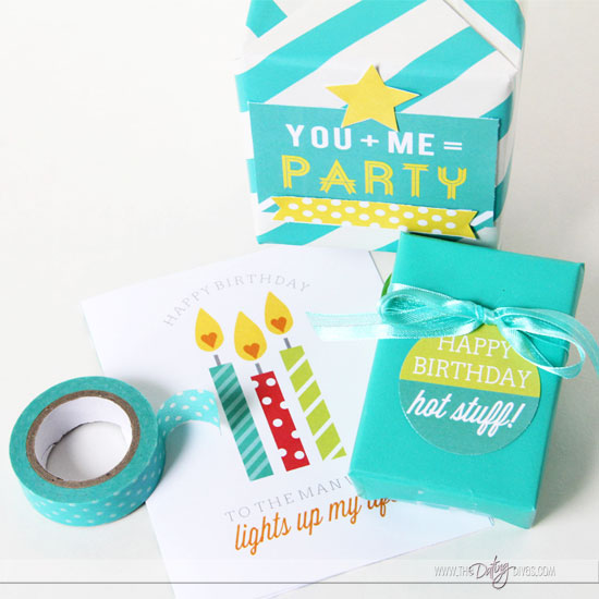Birthday Gift for Husband Embellishments
