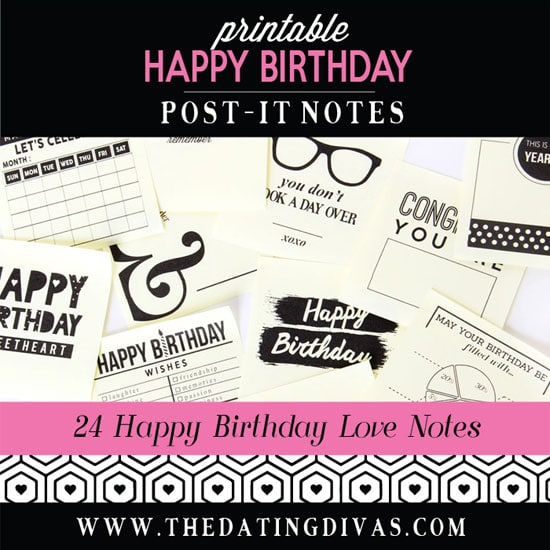 Birthday Post-It Love Notes