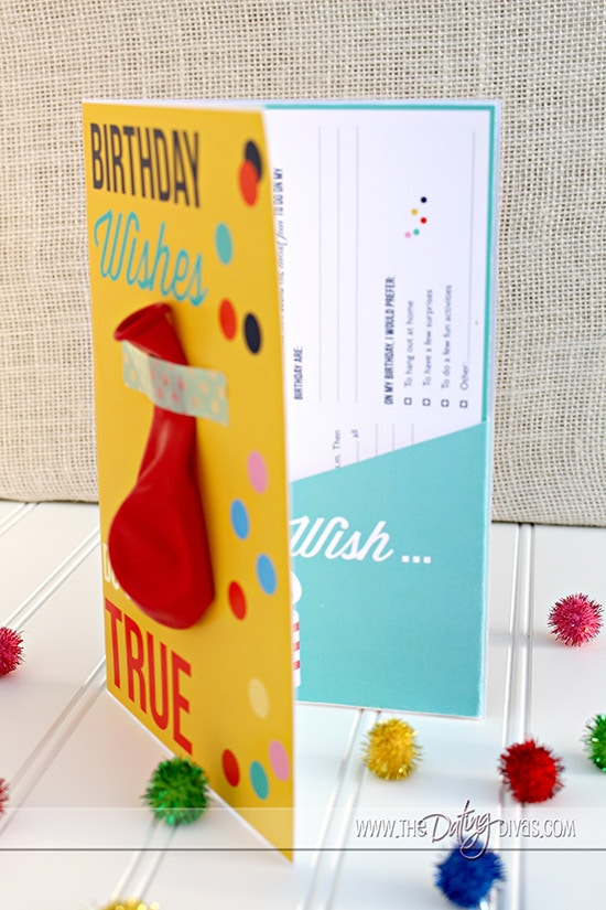Birthday Questionnaire Envelope Insert