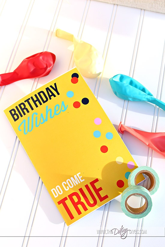 Birthday Questionnaire Envelope Items