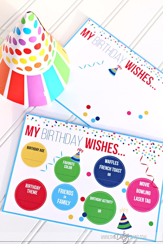 Birthday Questionnaire for Kids Filled and Blank Questionnaire