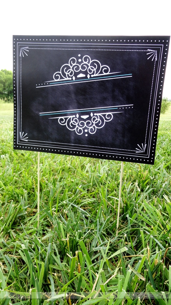 Blank Yard Game Sign
