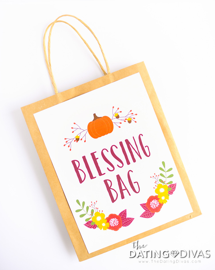 Printable Blessing Bag Cover