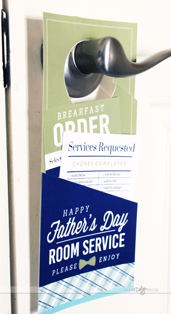 Breakfast in Bed Room Service Door Hanger for Father's Day