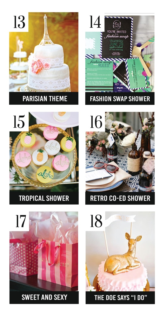 Great Bridal Shower Themes
