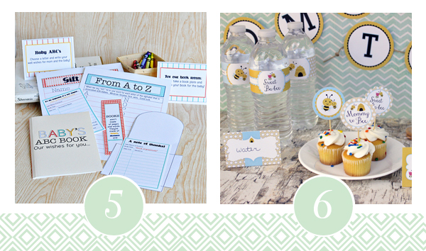 Build A Library For Baby - Baby Shower Themed Printable Pack