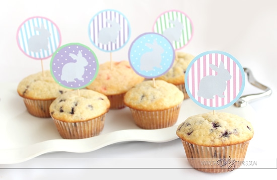 Bunny Brunch Free Printable Food Toppers
