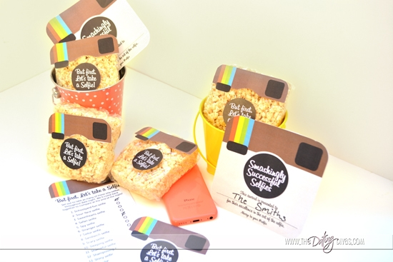 Selfie Treats and Certificates with Free Printables