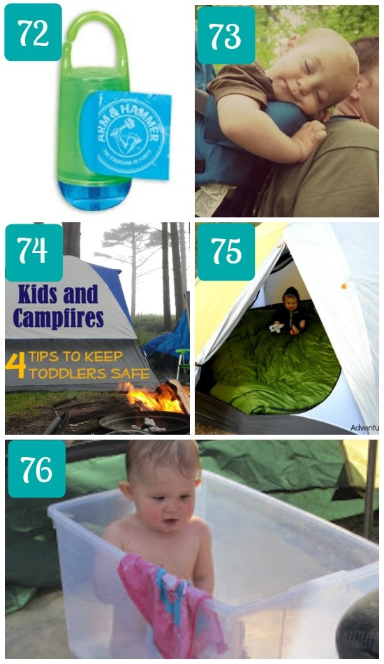 Camping with a baby hacks