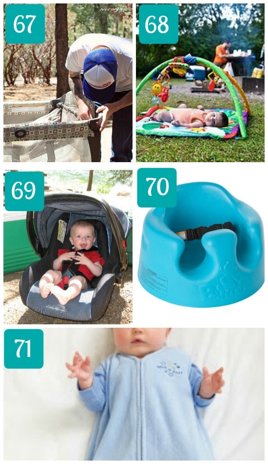 Camping with a baby ideas