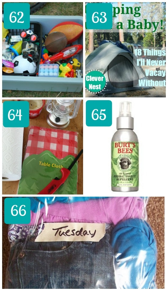 Camping with kids what to pack