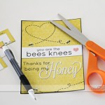"""You're the Bees Knees"" Romantic Love Note"