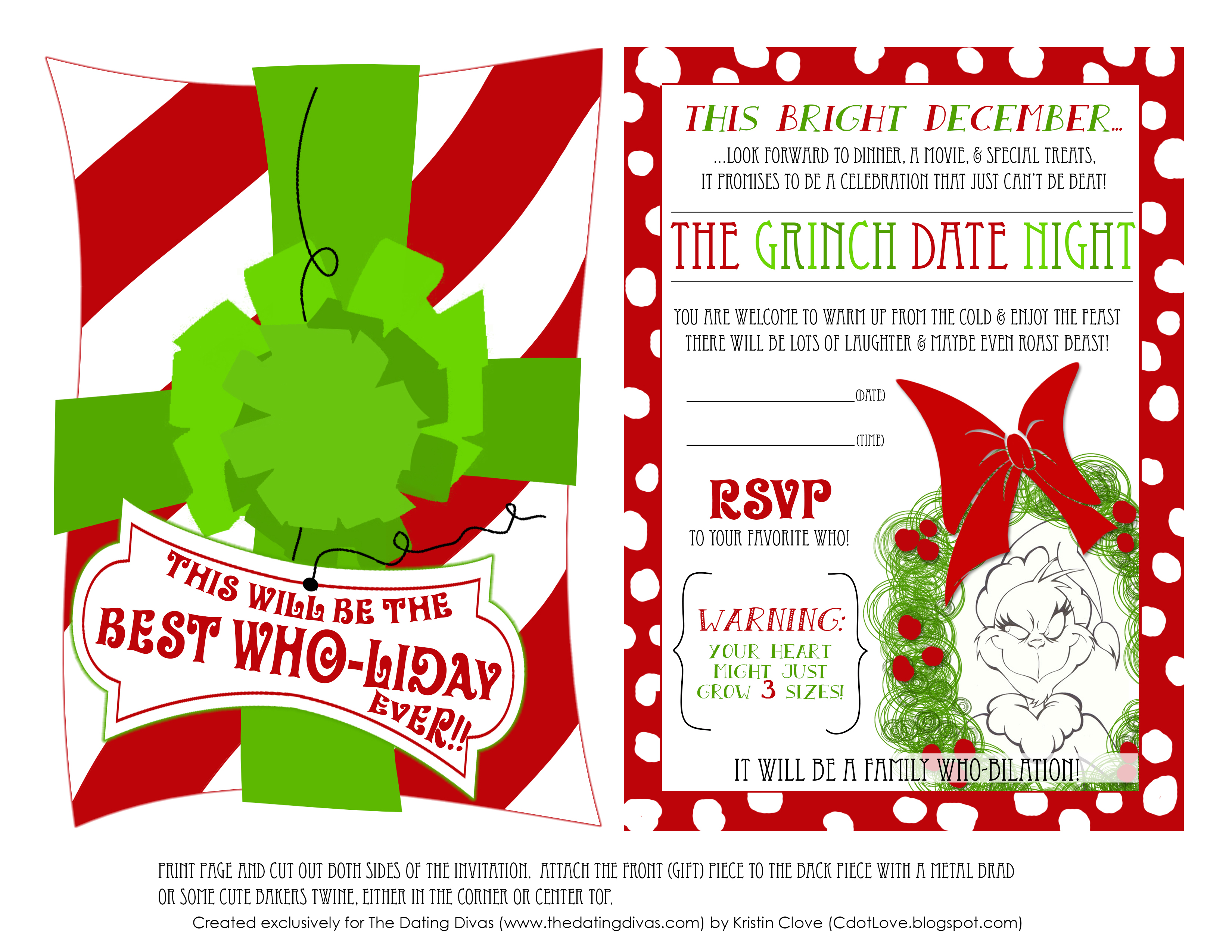 Légend image in grinch printable template