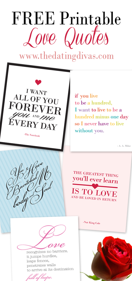 photograph regarding Free Printable Love Quotes identified as Ultimate 10 Appreciate Prices