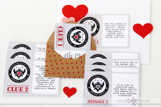 Romantic Valentine's Day Scavenger Hunt Clues