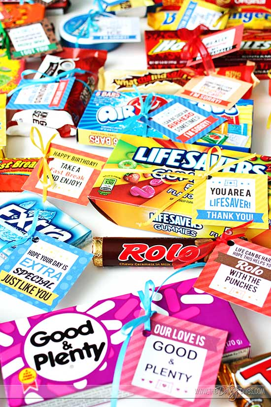 Candy Bar Gift Ideas