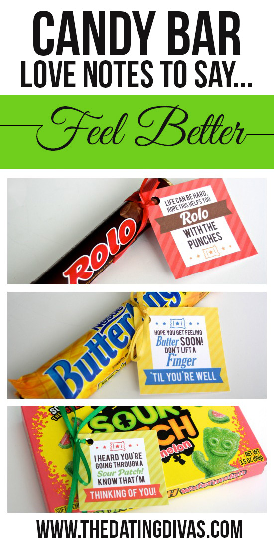 Candy Bar Love Notes to Say Feel Better