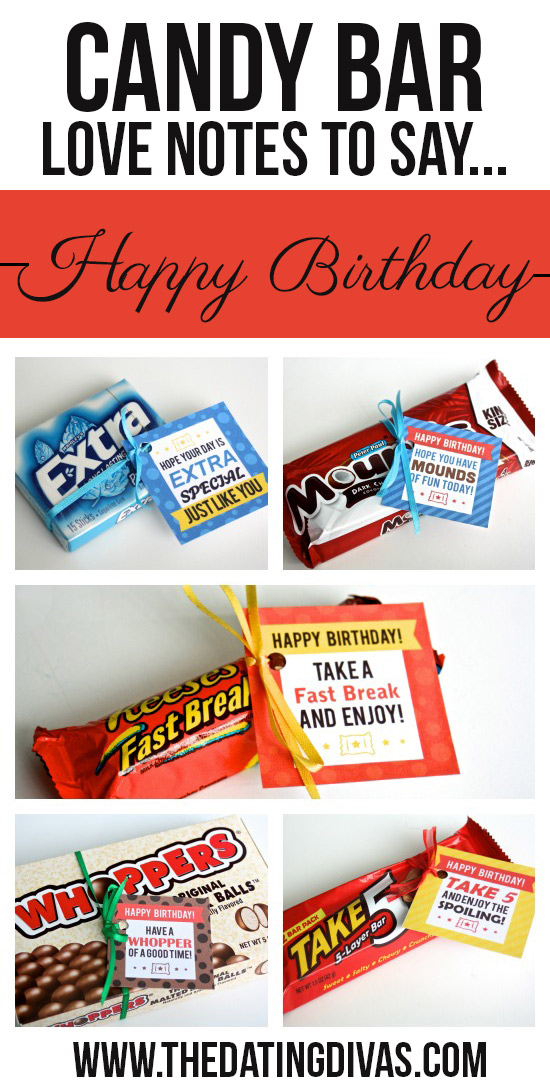 Clever candy sayings for almost every occasion candy bar love notes to say happy birthday negle Image collections