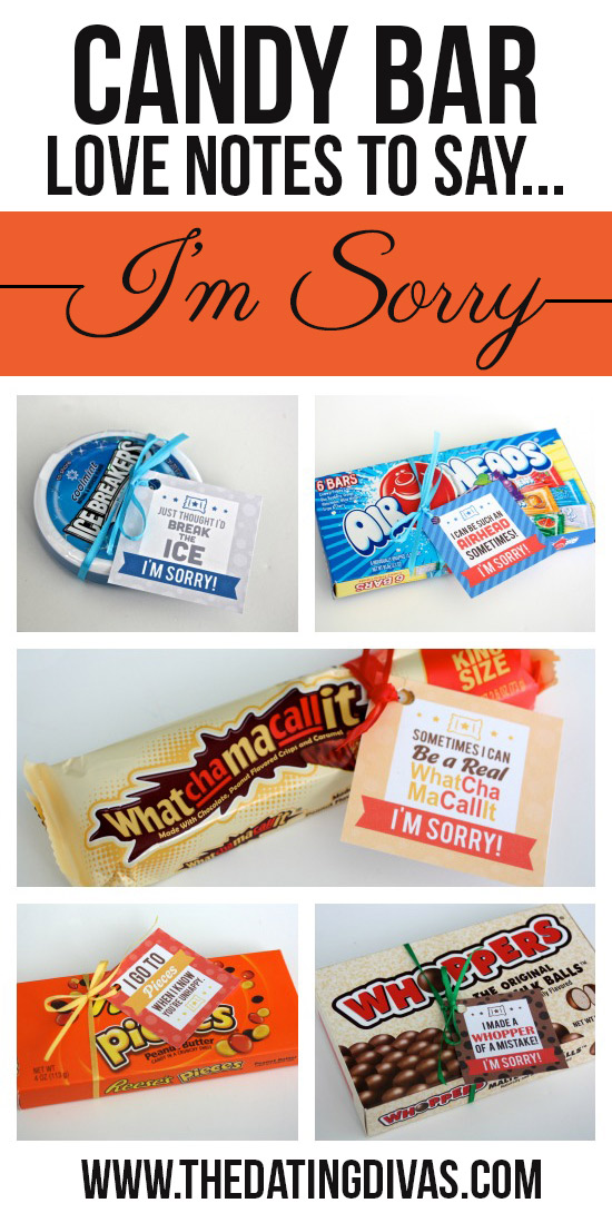 Candy Bar Love Notes to Say I'm Sorry
