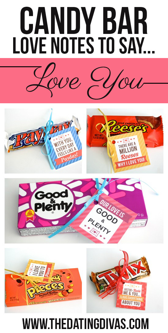 Candy Bar Love Notes to Say Love You