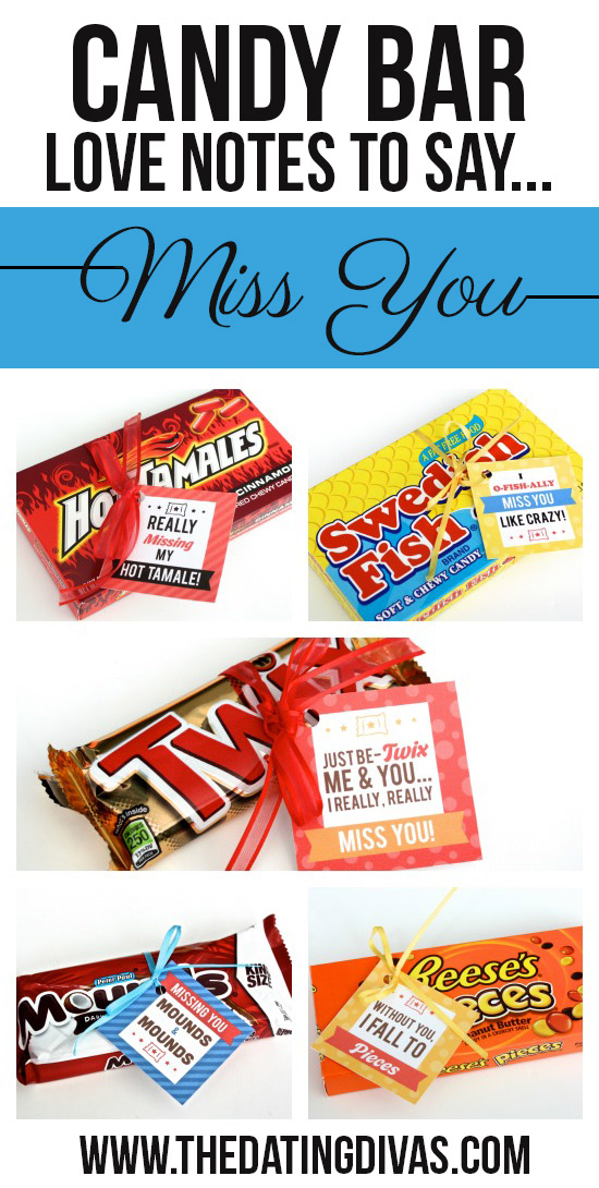 Candy Bar Love Notes to Say Miss You