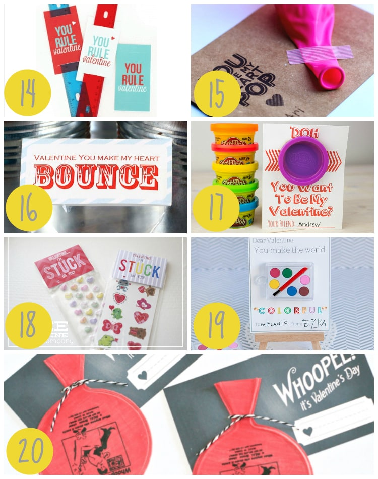 Candy-Free Ideas Valentine gifts for Kids Classroom