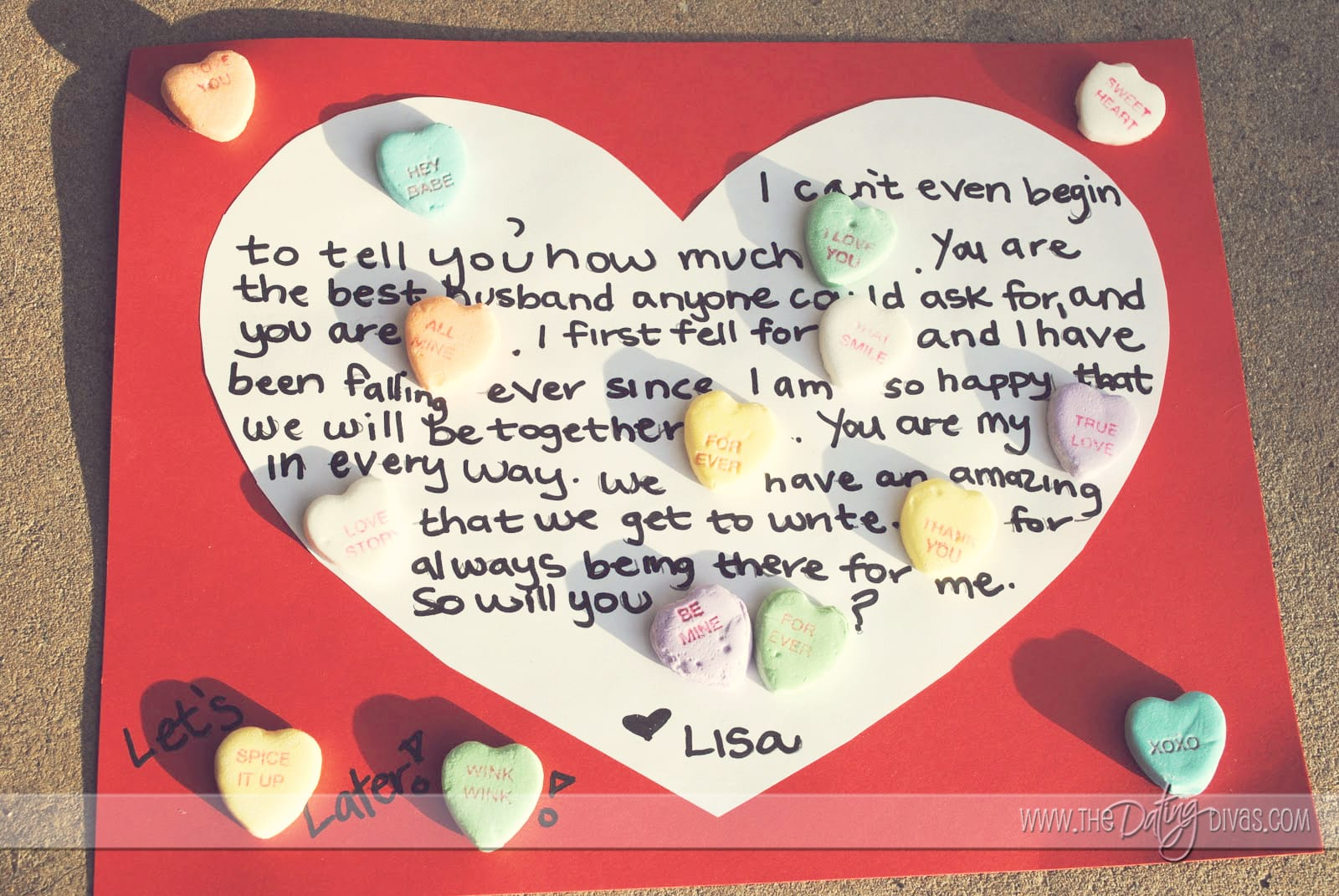 Candy Heart Messages