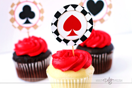 Casino Date Nigth Cupcake Toppers