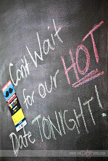 Chalkboard Wall Date Invite