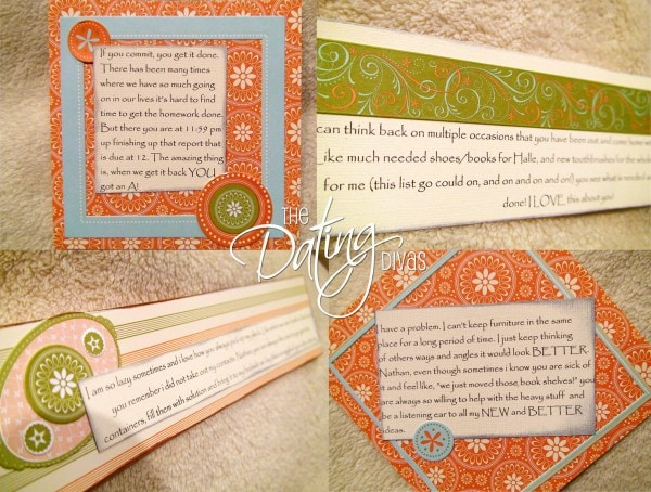 Why I Love You Scrapbook Cards for your Spouse