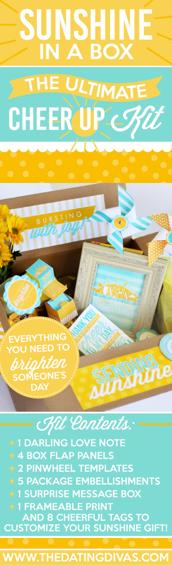 Cheer up kit care package printables... So great to have on hand! #TheDatingDivas #CarePackage