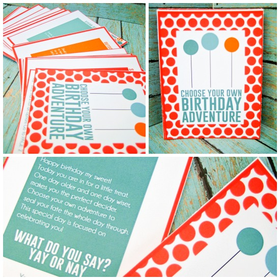 Choose Your Own Birthday Adventure Printable Book