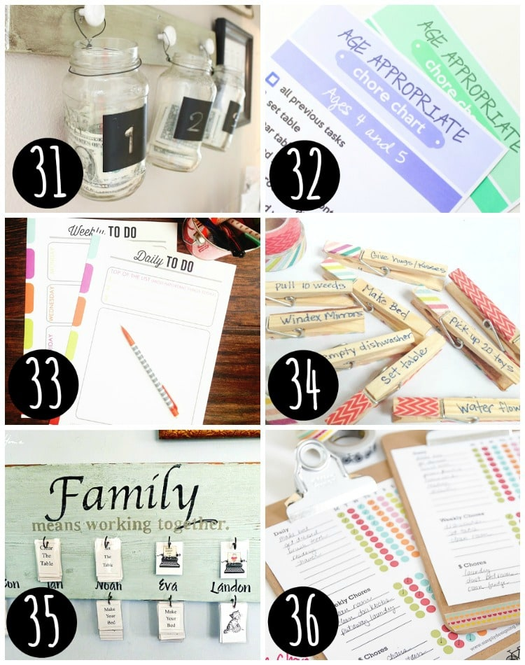 Top chore charts for your family!